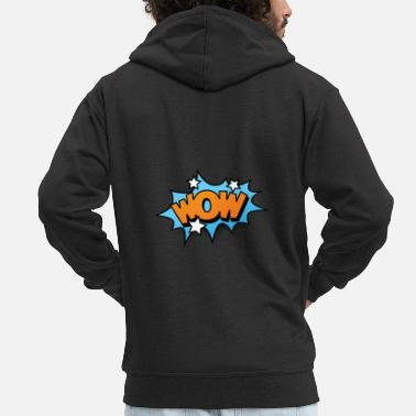 Strip Comic Comicstyle Comic Strip WOW - Chaqueta con capucha premium hombre