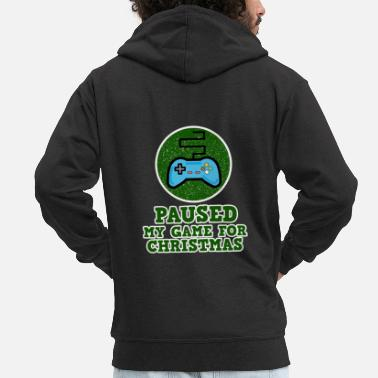 Reading Gaming for Gamers - Paused my Game for Christmas - Men's Premium Zip Hoodie
