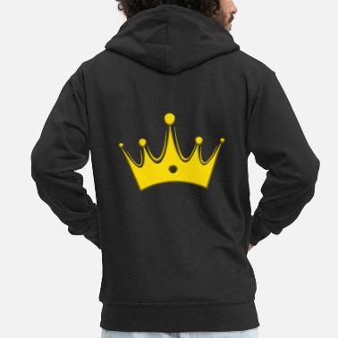 Kungarike Crown Crowns King Queen JGA Wedding Bride - Premium zip hoodie herr