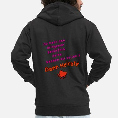 Marry Then marry - Men's Premium Zip Hoodie