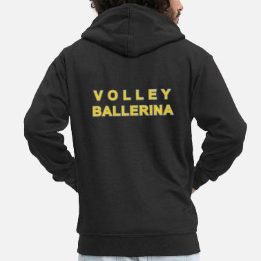 Volley Volley Ballerina - Men's Premium Hooded Jacket
