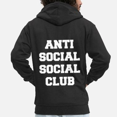 Social Anti social social club - Men's Premium Zip Hoodie