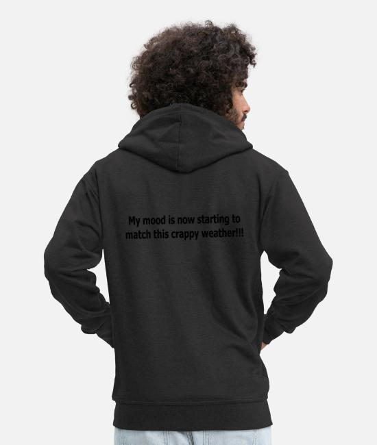 Earth Hoodies & Sweatshirts - crappy weather - Men's Premium Zip Hoodie black