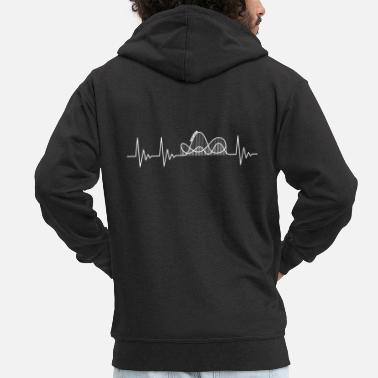 Roller Coaster Heartbeat Rollercoaster - Men's Premium Hooded Jacket