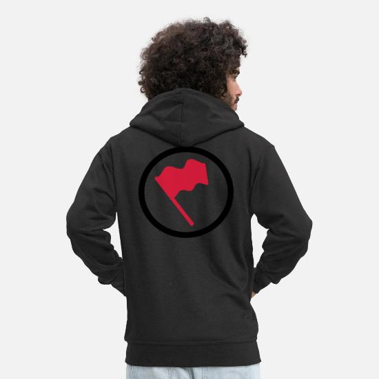 Flag Hoodies & Sweatshirts - flag - Men's Premium Zip Hoodie black