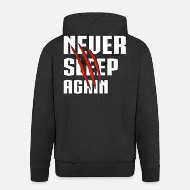 Never Sleep Never Sleep Again White - Premium Hettejakke for menn