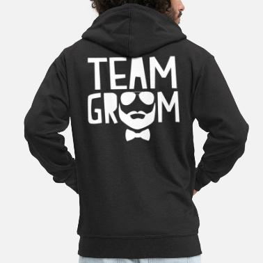 Team Groom Team Groom - Men's Premium Zip Hoodie
