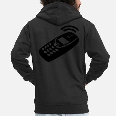 Mobile Phone Mobile Phone - Men's Premium Zip Hoodie