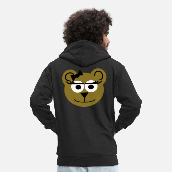 Boss Hoodies & Sweatshirts - lady bear - Men's Premium Zip Hoodie black