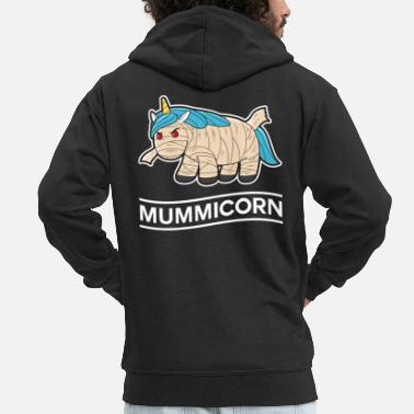Mummy mythical creature Halloween mythical animal fantasy - Men's Premium Zip Hoodie