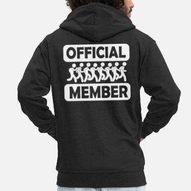 Workout Marathon Team Member - Men's Premium Zip Hoodie
