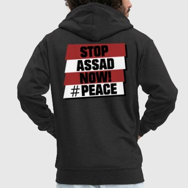 Stop Assad now! - Men's Premium Hooded Jacket