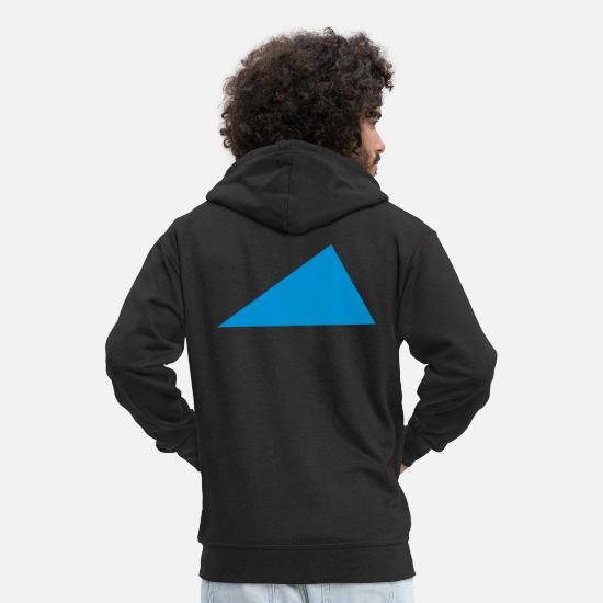 Shape Sweat-shirts - Triangle - Veste à capuche premium Homme noir