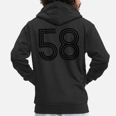 58, best football, fußball, football, soccer, - Men's Premium Zip Hoodie