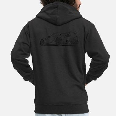Awesome Sports Car - Premium zip hoodie herr
