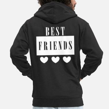 Best Friends Best friend best friend - Men's Premium Hooded Jacket