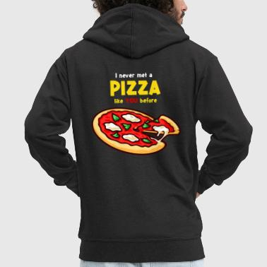 Pizza pizza pizza pizza! - Men's Premium Hooded Jacket