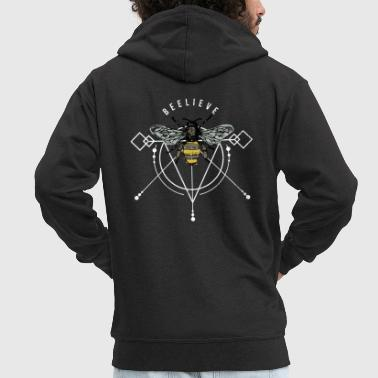 Bee wasp hornet honeycomb swag gift idea - Men's Premium Hooded Jacket