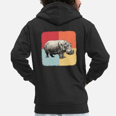 Hippo Hippos - Men's Premium Hooded Jacket