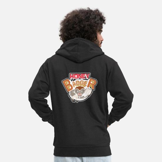 Gift Idea Hoodies & Sweatshirts - Honey Badger, Honey Badger - Men's Premium Zip Hoodie black