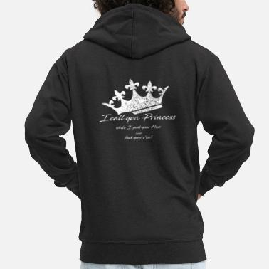 Crown - I call you Princess - Men's Premium Zip Hoodie
