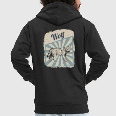 Wolf Pack Wolf Wolf Pack Gift - Men's Premium Hooded Jacket
