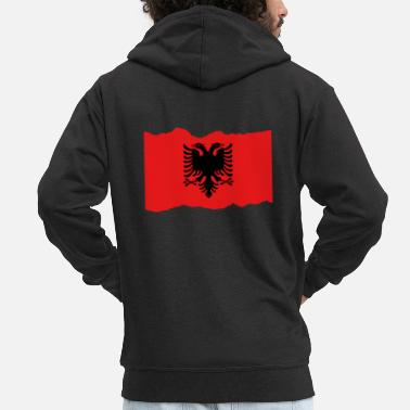 Albania Albania Albania - Men's Premium Hooded Jacket