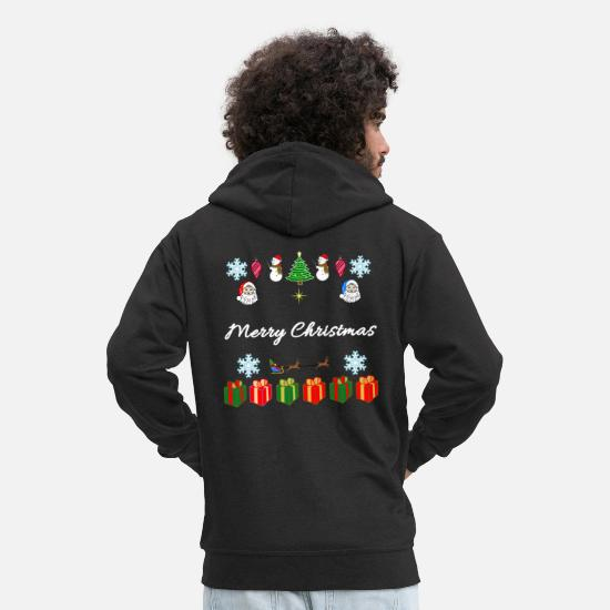 Gift Idea Hoodies & Sweatshirts - Merry Christmas - Merry Christmas - Christmas - Men's Premium Zip Hoodie black