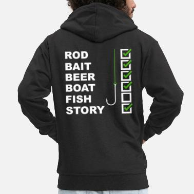 Fishing Shirt Funny - Men's Premium Hooded Jacket