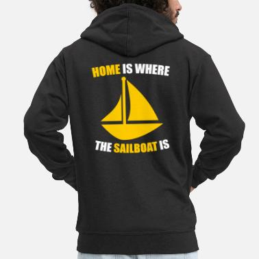 sailboat - Men's Premium Zip Hoodie