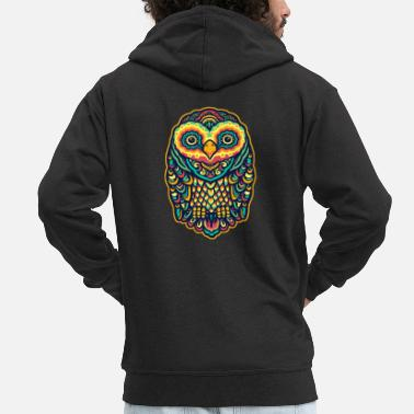 Colorful owl - Men's Premium Zip Hoodie