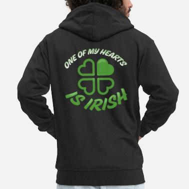 One of my hearts is Irish - Männer Premium Kapuzenjacke