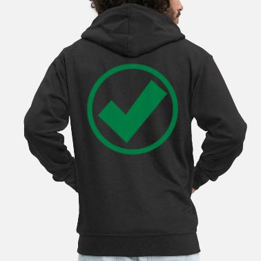 Check Mark check mark - Men's Premium Zip Hoodie