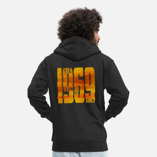 Birthday Hoodies & Sweatshirts - Born in 1969 - Men's Premium Zip Hoodie black