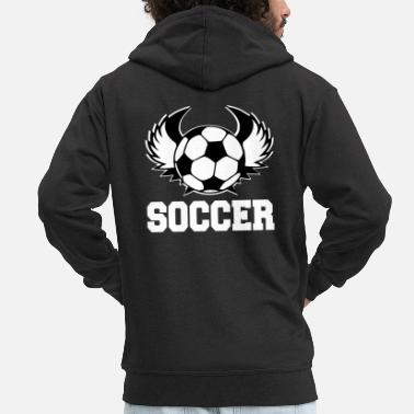 Gate Soccer football rugby goal player gift idea - Men's Premium Zip Hoodie