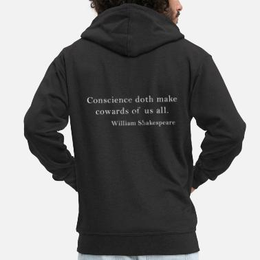 Citations William Shakespeare, citation, citation, hameau anglais - Veste à capuche premium Homme