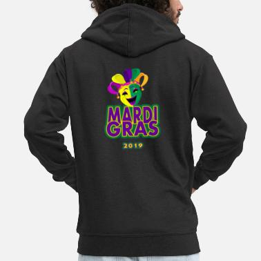 Festivals Mardi Gras 2019 Funny tShirt for Women Men - Men's Premium Zip Hoodie