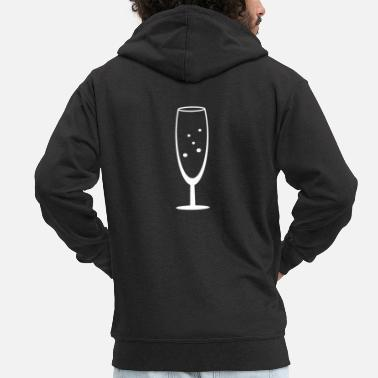 Champagne Glass champagne glass - Men's Premium Zip Hoodie