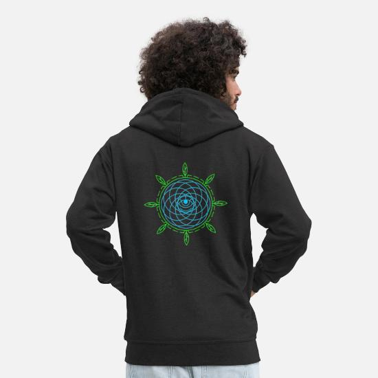 Symbol  Hoodies & Sweatshirts - Psychedelic Eye Techno Trance Goa - Men's Premium Zip Hoodie black