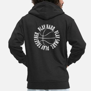 Steal Basketball, layman, dunk, playmaker, basket throw - Men's Premium Zip Hoodie