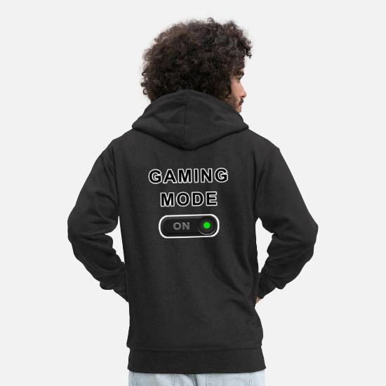 Play Hoodies & Sweatshirts - Gaming Mode - Gift - Men's Premium Zip Hoodie black