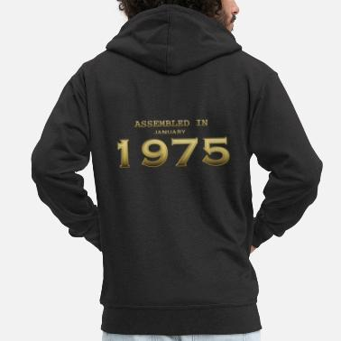 Date Assembled January 1975 - Men's Premium Zip Hoodie