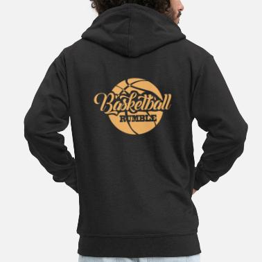 To Camp Basketball - Men's Premium Zip Hoodie