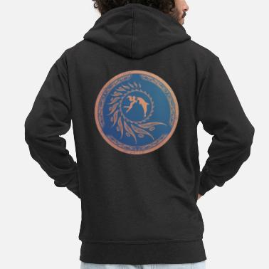 Greece Nautilus dolphin tribal - Men's Premium Zip Hoodie