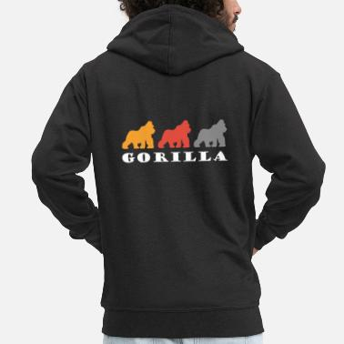 King Kong Retro gorilla design gift - Men's Premium Zip Hoodie