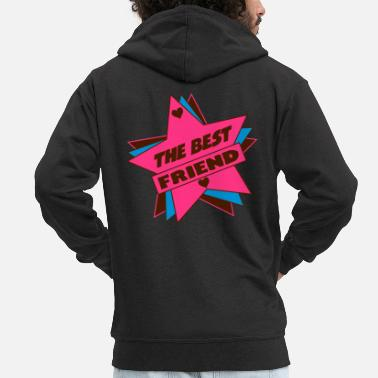 Girlfriend Friend / Nanny / Girlfriend / Daddy / Mom / Papy - Men's Premium Zip Hoodie