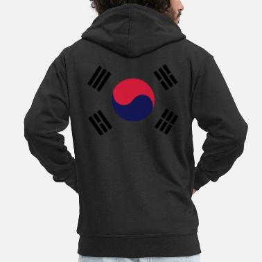 South Flag of South Korea - Men's Premium Zip Hoodie