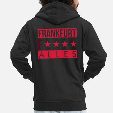 Handkaes Frankfurt Fuck Everything - FFM - Men's Premium Zip Hoodie