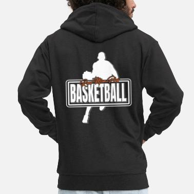 Basket Real Men Play Basketball Shirt Real Men - Men's Premium Zip Hoodie