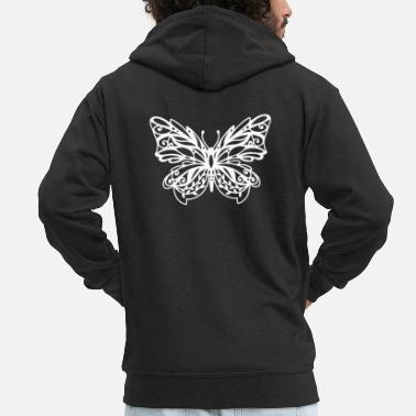 Fun Papercut butterfly gift paper cut - Men's Premium Zip Hoodie